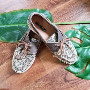 Sperry Top-sider Canvas Cheetah Print